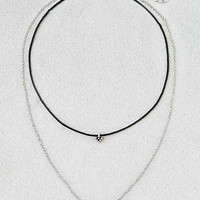 AEO Tiered Choker Necklace, Silver
