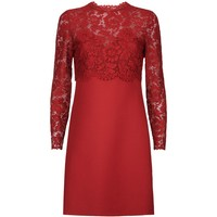 Valentino Lace Overlay Dress Red | Harrods