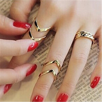 3PCS/Set Urban Punk Golden Knuckle Ring Set