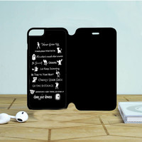 Disney Lessons Learned Mash Up iPhone 6 Plus Flip Case Dewantary
