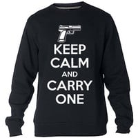 Keep Calm And Carry One Sweatshirt Sweater Crewneck Men or Women Unisex Size