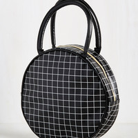 Well-Rounded Palate Lunch Bag in Grid | Mod Retro Vintage Kitchen | ModCloth.com