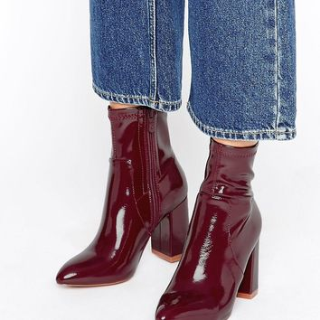 Public Desire Raya Sock Heeled Ankle Boots