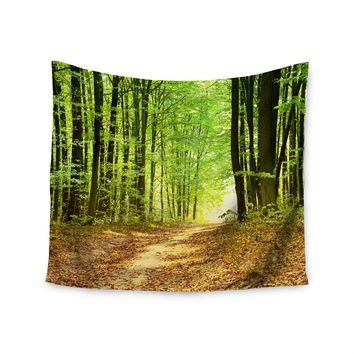 """""""Into the Woods"""" Forest Trees Wall Tapestry"""