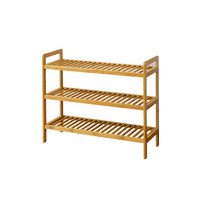 Three Tier Bamboo Shoes Rack: Three tier bamboo shoes rack