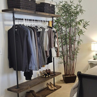 I Rack Double - Furniture - Industrial Clothing Rack -  Clothes Rack - Rolling Rack