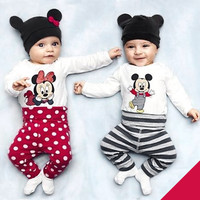 Baby 3PC Infant Romper Hat Pants Set