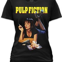 """Women's """"Pulp Fiction"""" Tee by Goodie Two Sleeves (Black)"""