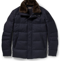 PRODUCT - Loro Piana - Beaver-Trimmed Cashmere Down-Filled Coat - 375759 | MR PORTER