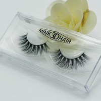 20pair 3D Mink Eyelashes Natural Extension Long Cross Thick Mink Lashes Handmade Eye Lashes D05-D21