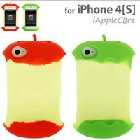 3D apple shaped Silicon case for iphone 4/4s