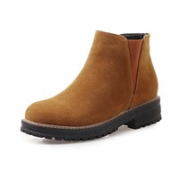 Fall Winter Ankle Chelsea Boots Women Shoes 6294
