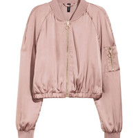 Short Bomber Jacket - from H&M