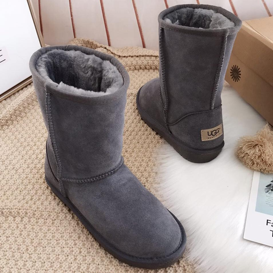 Image of UGG women men Classic Boots Wool Fur Boots Half Boots Shoes