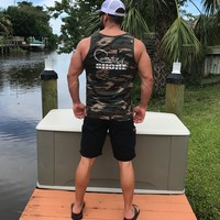 Military Camo Ringer Tank Top - Signature Series