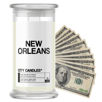 New Orleans City Cash Candle