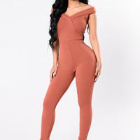 City Of Lights Jumpsuit - Marsala