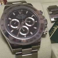 Rolex Cosmograph Daytona Ref #116520 Black Dial Stainless Steel with Box 2012 NR