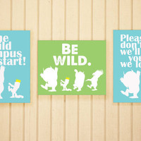 Wild Things COLLECTION: THREE 8 x 10 Prints