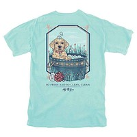 Bubble Bath Tee in Chalky Mint by Lily Grace