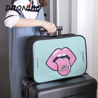 2016 Waterproof nylon Luggage trunk bag Luggage bag  lovely Cartoon Cover Design Luggage bag  Men and women luggage bag #a0024