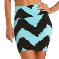 Sketched Chevron Mini Skirt: Charlotte Russe