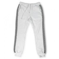 15 CHECKERS SWEATPANTS WHITE > 긴바지 | 힙합퍼