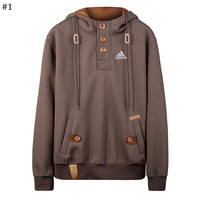 ADIDAS autumn and winter new men's hooded fashion casual sweater #1
