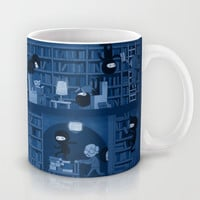 Silence in the Library Mug by Anna-Maria Jung