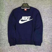 NIKE cotton round neck long-sleeved sweater autumn skateboard street men F
