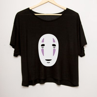 No Face Cropped Tee