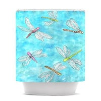 "Rosie Brown ""Dragonfly""  Shower Curtain"
