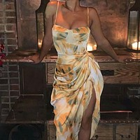 2020 new women's sexy printed camisole dress