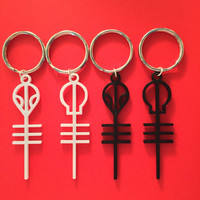 LAST CHANCE 3D Printed Twenty One Pilots Skeleton & Alien Clique Inspired Keychains