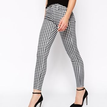 French Connection Shrimpy Gingham Checked Skinny Jeans
