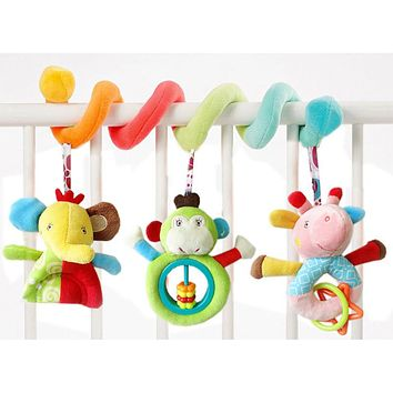Playpen Baby Crib Bed Hanging Toys Stroller Rattles Plush Elephant Doll Infant Carrier Accessories for Newborn Education B0672
