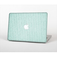 The Light Green Scratched Stripe Pattern v4 Skin Set for the Apple MacBook Air 11""