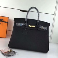 Ready Stock Hermes Women's Leather Birkin Handbag Inclined Shoulder Bag #707