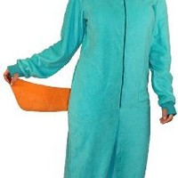 Phineas and Ferb Perry the Platypus Adult Hooded One Piece Costume Pajama (Adult XX-Large)