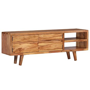 """vidaXL TV Cabinet Solid Acacia Wood with Carved Doors 46.1""""x11.8""""x15.7"""""""