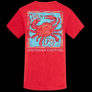 Southern Couture Seas The Day Crab Comfort Colors T-Shirt