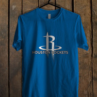 Houston Rockets Blue For Mens T Shirt and Womens T Shirt *76*
