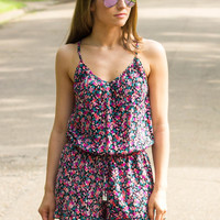Rompin' Around Romper- Floral Print 4