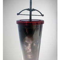 The Walking Dead Daryl Cross Bow Cup with Straw - Spencer's