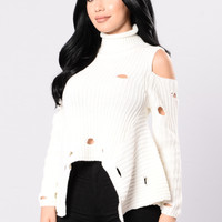 So Confident Sweater - Ivory