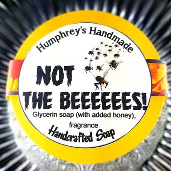 NOT THE BEEEEES Honey Soap   Shave Soap   Body Bar   Honeycomb Scent