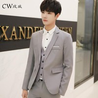 CW Tuxedo Dress 2018 Brand Clothing Blazer Men One Button Men Blazer Slim Fit Costume Homme Suit Jacket Masculine Blazer M-3XL