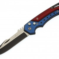 Black Ops Patriot Clip Point Push Button Automatic Switchblade Flick Knife