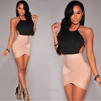 Women Sexy Backless Bodycon Bandage Evening Party Cocktail Short Mini Dress = 1946079172