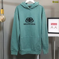 BALENCIAGA Fashion Women Warm Print Hoodie Sweater Sweatshirt Green